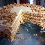 Tarta de Nueces con chocolate blanco